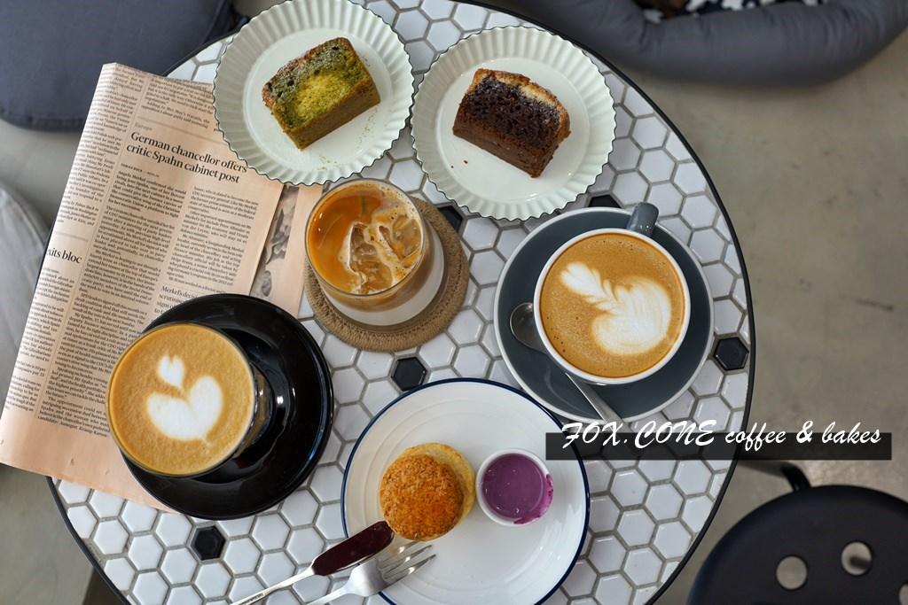 新竹咖啡廳│FOX.CONE coffee & bakes。澳式咖啡‧手作司康與甜點‧還有小柴店長!