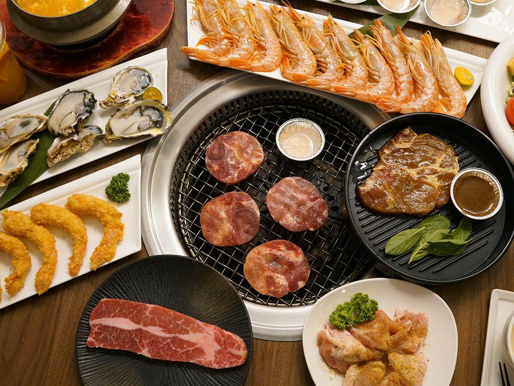 新竹美食│燒BAR 燒肉吃到飽。老饕牛排.厚切牛舌.海鮮吃到飽‧新竹市區聚餐推薦*