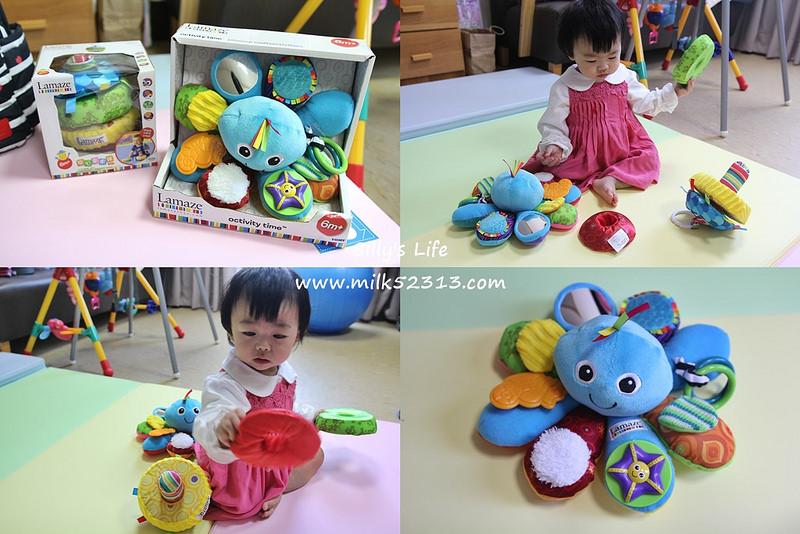 育兒│Lamaze拉梅茲嬰幼兒玩具。我的藍色八爪章魚‧ 開心串串球(新)*